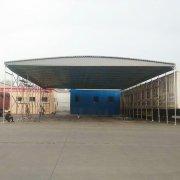 郑州二七区电动移动推拉棚 大排档伸缩雨棚 夜市烧烤推拉棚 厂