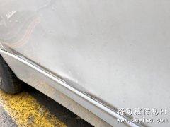 宝马3系后车门棱线变形,免喷漆凹陷无痕修复